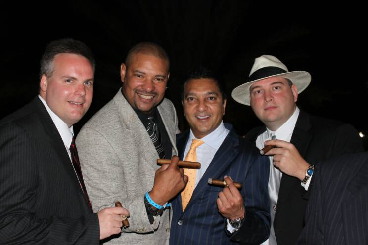 John Ost, Walter Briggs, Rocky Patel, and Johnny Kovar at the Jaws Youth Fund Cigar Event