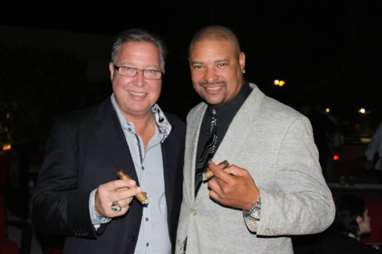 "Ron ""Jaws"" Jaworski and WB at the Jaws Youth Fund Cigar Event"